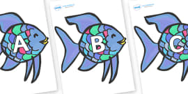 A-Z Alphabet on Rainbow Fish to Support Teaching on The Rainbow Fish