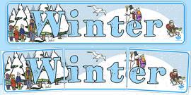 Winter Display Banner