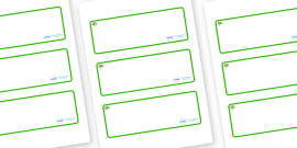 Apple Tree Themed Editable Drawer-Peg-Name Labels (Blank)