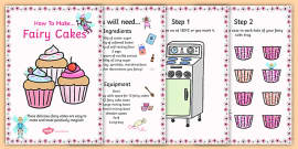 Fairy Cake Recipes Cards