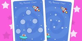 Space Large Sticker Reward Chart (Australia)