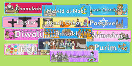 Religious Celebrations Display Banner Pack