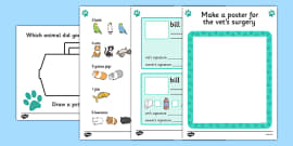 Vets Role Play Area Activity Sheets