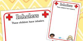 Pupil Inhalers Information Poster