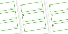 Dinosaur Themed Editable Drawer-Peg-Name Labels (Blank)