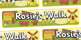 Display Banner to Support Teaching on Rosie's Walk