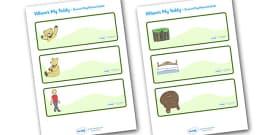 Editable Drawer - Peg - Name Labels (Where's My Teddy)