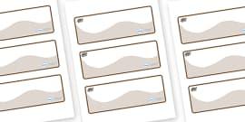 Badger Themed Editable Drawer-Peg-Name Labels (Colourful)