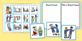 Good Friend Discussion and Sorting Cards