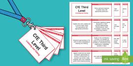 CfE Third Level Listening and Talking Lanyard-Sized Benchmarks