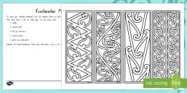 Make Your Own Kowhaiwhai Bookmarks