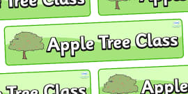 Apple Tree Themed Classroom Display Banner