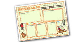 Book Review Writing Frame to Support Teaching on Fantastic Mr Fox