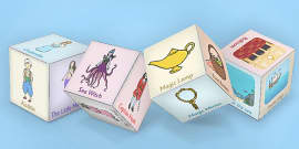 Story Telling Prompt Dice Nets