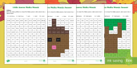 * NEW * Little Acorns Addition Maths Mosaics Activity Sheets
