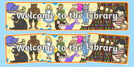 Welcome to the Library Display Banner