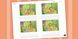 The Lion and the Mouse Storyboard Template