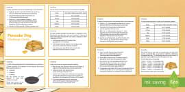 Year 4 Pancake Day Maths Challenge Cards