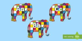A-Z Alphabet on Elmer to Support Teaching on Elmer