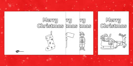 Colour In Christmas Cards