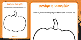 Design a Pumpkin Carving Activity Sheet