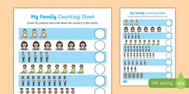 My Family Up to 10 Counting Activity Sheet