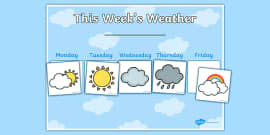 Weekly Weather Recording Chart