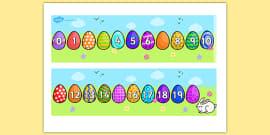 Missing Number Number Line 0-20 (Easter)