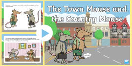 The Town Mouse and the Country Mouse Story PowerPoint