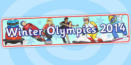 Winter Olympics 2014 Display Banner