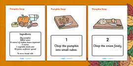 Pumpkin Soup Recipe Sheets