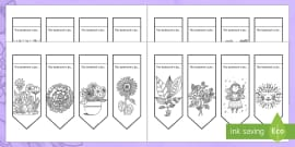 Happy Mother's Day Mindfulness Colouring Bookmarks