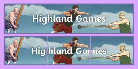 Highland Games Display Banner