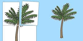 Large Palm Tree Display Cut Out 4xA4