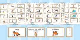 The Gingerbread Man Sentence Building Cards