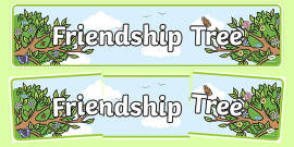 Friendship Tree Display Banner