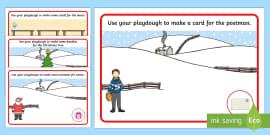 Playdough Mats to Support Teaching on The Jolly Christmas Postman