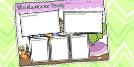 The Enormous Turnip Book Review Writing Frame