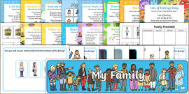 Childminder All About Me and Ourselves: My Family EYFS Resource Pack
