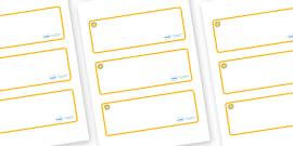 Sunshine Themed Editable Drawer-Peg-Name Labels (Blank)