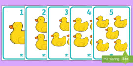 * NEW * Five Little Ducks Counting Display Posters