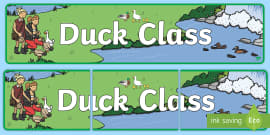 Duck Themed Classroom Display Banner