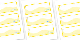 Angel Themed Editable Drawer-Peg-Name Labels (Colourful)