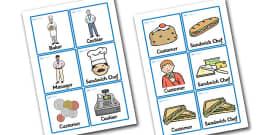 Sandwich Shop Role Play Badges