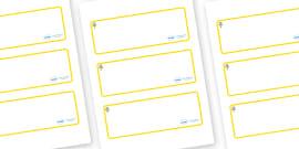 Flower Themed Editable Drawer-Peg-Name Labels (Blank)
