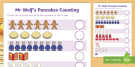 Counting Sheet to Support Teaching on Mr Wolf's Pancakes