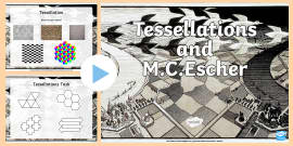 M.C. Escher And Tessellations   PowerPoint