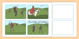 The Battle of Hastings Story Sequencing (4 per A4)