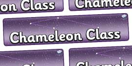 Chameleon Star Constellation Themed Classroom Display Banner