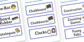 Unicorn Themed Editable Additional Classroom Resource Labels